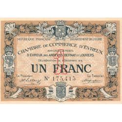 Evreux (Eure) - Pirot 57-01 - 1 franc - 1915 - Etat : TTB