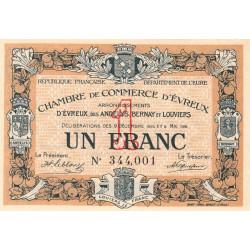 Evreux (Eure) - Pirot 57-5 - 1 franc - 1916 - Etat : SPL à NEUF