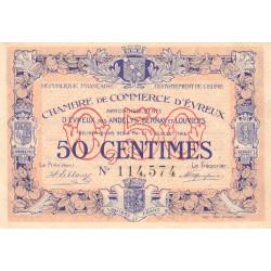 Evreux (Eure) - Pirot 57-8 - 50 centimes - 1916 - Etat : SUP+