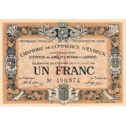 Evreux (Eure) - Pirot 57-9 - 1 franc - 1916 - Etat : TTB