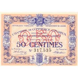 Evreux (Eure) - Pirot 57-10 - 50 centimes - 11/01/1917 - Etat : SPL