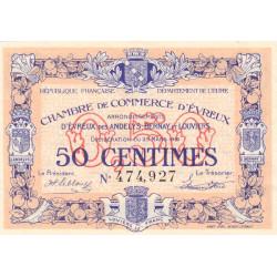 Evreux (Eure) - Pirot 57-13 - 50 centimes - 25/03/1919 - Etat : SUP+