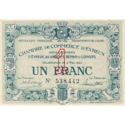 Evreux (Eure) - Pirot 57-15 - 1 franc - 05/05/1920 - Etat : SUP+