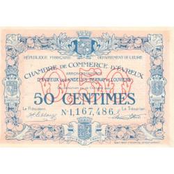 Evreux (Eure) - Pirot 57-18 - 50 centimes- Chiffre 1 - 28/10/1920 - Etat : SUP