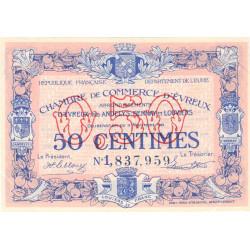 Evreux (Eure) - Pirot 57-21a - 50 centimes- Chiffre 1 - 17/11/1921 - Etat : SUP