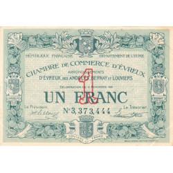 Evreux (Eure) - Pirot 57-23 - 1 franc- Chiffre 3 - 17/11/1921 - Etat : SUP
