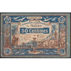 Fécamp - Pirot 58-1 - 50 centimes - 06/08/1920 - Etat : B+