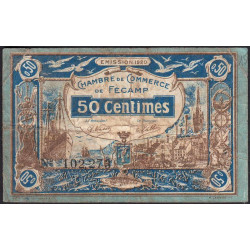 Fécamp - Pirot 58-1 - 50 centimes - 06/08/1920 - Etat : TB-