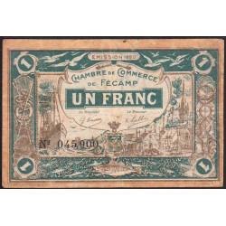 Fécamp - Pirot 58-3 - 1 franc - 06/08/1920 - Etat : TB