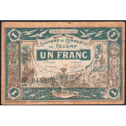 Fécamp - Pirot 58-3 - 1 franc - 1920 - Etat : TB