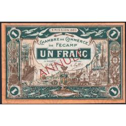 Fécamp - Pirot 58-4 - 1 franc - 06/08/1920 - Annulé - Etat : SUP+