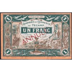 Fécamp - Pirot 58-4 - 1 franc - 06/08/1920 - Annulé - Etat : NEUF