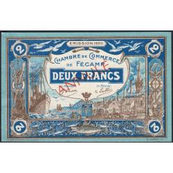 Fécamp - Pirot 58-06 - 2 francs - Annulé - 1920 - Etat : SUP+