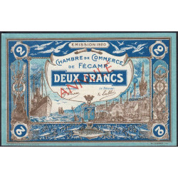 Fécamp - Pirot 58-6 - 2 francs - 06/08/1920 - Annulé - Etat : SUP+