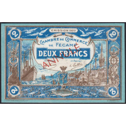 Fécamp - Pirot 58-6 - 2 francs - 06/08/1920 - Annulé - Etat : NEUF