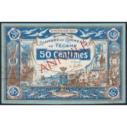 Fécamp - Pirot 58-02 - 50 centimes - Annulé - 1920 - Etat : SUP