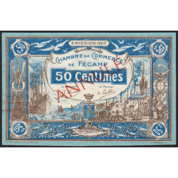 Fécamp - Pirot 58-2 - 50 centimes - 06/08/1920 - Annulé - Etat : SUP