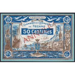 Fécamp - Pirot 58-02 - 50 centimes - Annulé - 1920 - Etat : NEUF