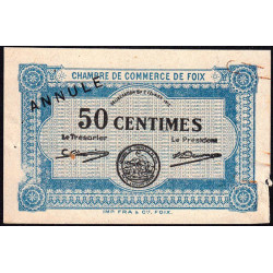 Foix - Pirot 59-2 - 50 centimes - Annulé - 1915 - Etat : TB+