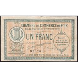 Foix - Pirot 59-10 - 1 franc - 02/02/1915 - Etat : TB+