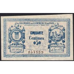 Foix - Pirot 59-13b - 50 centimes - 1920 - Etat : TTB