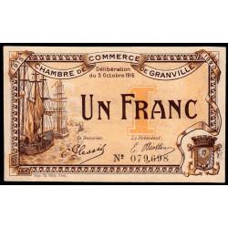 Granville - Pirot 60-09 - 1 franc - 1916 - Etat : SUP+