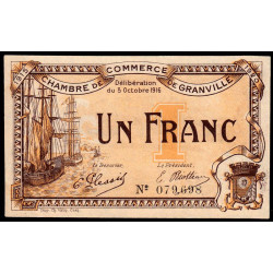 Granville - Pirot 60-9 - 1 franc - 1916 - Etat : SUP+