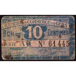 Auch (Gers) - Pirot 15-42 - 10 centimes - Série AB - sans date - Etat : B+