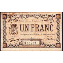 Granville - Pirot 60-04b - 1 franc - 1915 - Etat : TB-