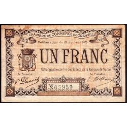 Granville - Pirot 60-4 - 1 franc - 19/07/1915 - Etat : TB-