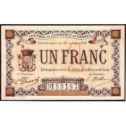 Granville - Pirot 60-4 - 1 franc - 19/07/1915 - Etat : TTB-