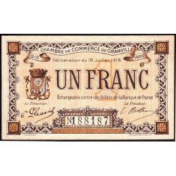 Granville - Pirot 60-4a - 1 franc - 1915 - Etat : TTB-
