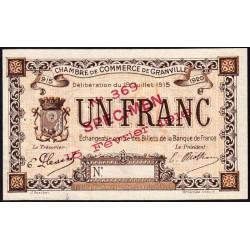 Granville - Pirot 60-6- 1 franc - Spécimen - 1915 - Etat : SUP