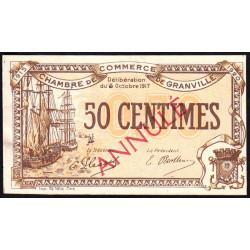 Granville - Pirot 60-12- 50 centimes - Annulé - 1917 - Etat : SUP