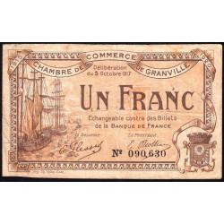 Granville - Pirot 60-13 - 1 franc - 1917 - Etat : TB
