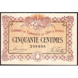 Gray / Vesoul - Pirot 62-7 - 50 centimes - 1915 - Etat : SPL