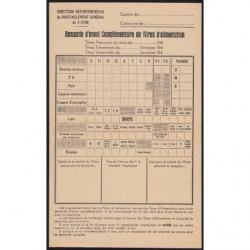 38 - Demande titres d'alimentation - 1948 - Etat : SUP