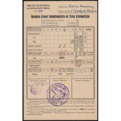 38 - Pont-de-Beauvoisin - Demande titres d'alimentation - 1948 - Etat : TTB+
