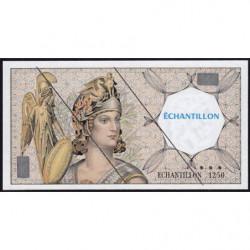 Athena à gauche - Format 50 francs QUENTIN DE LA TOUR - DIS-03-H-01 - Etat : SUP