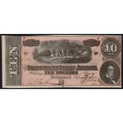 Etats Conf. d'Amérique - Pick 68 - 10 dollars - Lettre F - 1864 - Etat : pr.NEUF