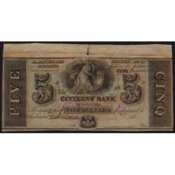 Etats Unis d'Amérique - Louisiane - 5 dollars - 1850 - Etat : SPL