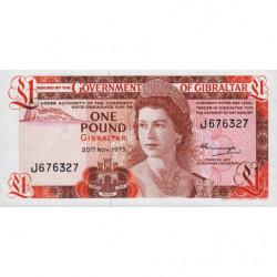 Gibraltar - Pick 20a - 1 pound - 20/11/1975 - Etat : NEUF