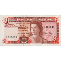 Gibraltar - Pick 20d - 1 pound - Série L - 21/10/1986 - Etat : TTB+