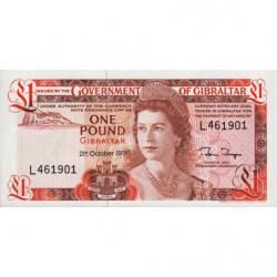 Gibraltar - Pick 20d - 1 pound - Série L - 21/10/1986 - Etat : pr.NEUF