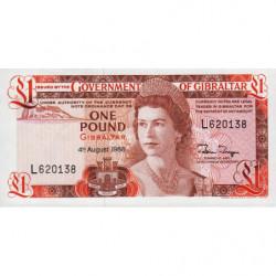 Gibraltar - Pick 20e - 1 pound - Série L - 04/08/1988 - Etat : NEUF