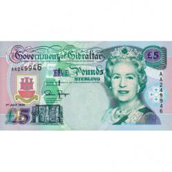 Gibraltar - Pick 25 - 5 pounds - 01/07/1995 - Etat : NEUF
