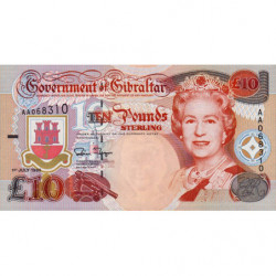 Gibraltar - Pick 26 - 10 pounds - 01/07/1995 - Etat : NEUF