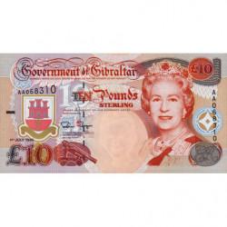 Gibraltar - Pick 26 - 10 pounds - 1995 - Etat : NEUF