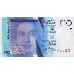 Gibraltar - Pick 36 - 10 pounds - Série A/AA - 01/01/2010 - Etat : NEUF