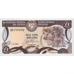 Chypre - Pick 53a_3 - 1 livre - 01/11/1989 - Etat : NEUF